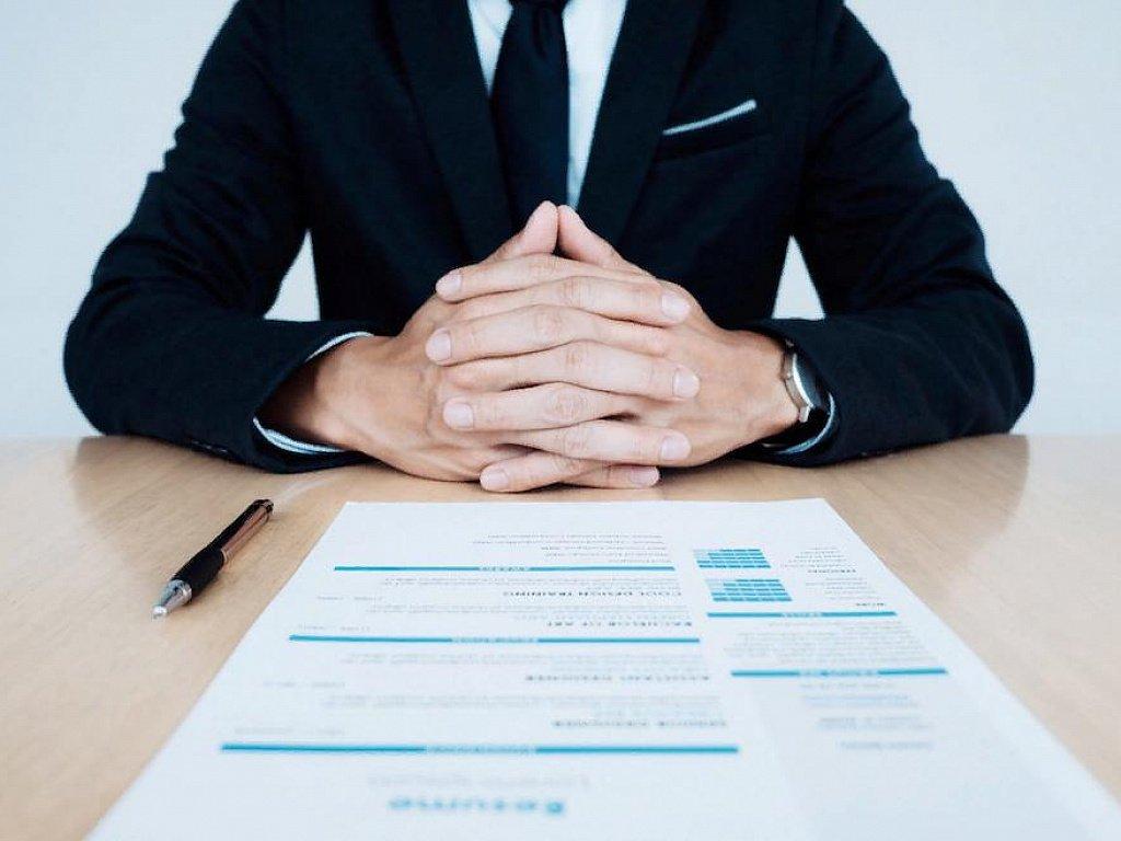recruiter checks a resume